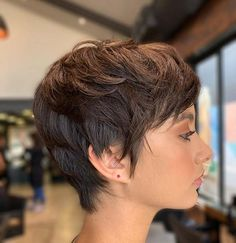 we have found amazing short hairstyles for ladies with fine hair with pixie haircuts. there are pixie haircuts for everyone and each one can transform your hair. Edgy Short Hair, Short Hair Trends, Edgy Hair, Short Hair Styles, Short Fine Hair, Short Hair Images, Curly Short, Short Hairstyles For Thick Hair, Short Hair Cuts For Women