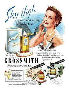 1950 Grossmith Perfumes ad   Flickr - Photo Sharing!