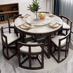 Unique Dining Tables To Make The Space Spectacular - Engineering Discoveries Space Saving Dining Table, Dinning Table Design, Unique Dining Tables, Wooden Dining Tables, Dining Table Chairs, Circle Dining Table, Small Dining, Bedroom Furniture Design, Home Decor Furniture