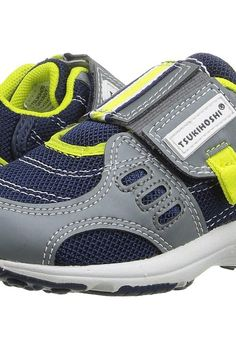 Tsukihoshi Kids Euro (Toddler/Little Kid) (Gray/Navy) Boys Shoes