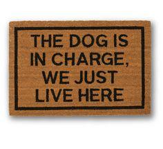 dog owner's door mat