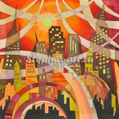 Оранжевый город.