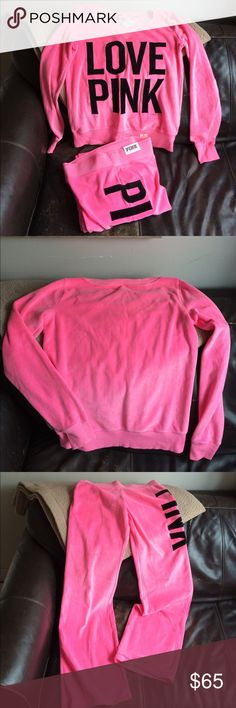 💖PINK Victoria's Secret 💖💕 Sweat pants it's a size XS-sweater it's a size S selling together since it's a great price to go please note📌this is new📌 just being on my closet for a good time /in Excellent condition 💖 PINK Victoria's Secret Sweaters
