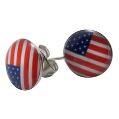 Chicnova Fashion American Flag Stud Earrings ($3.10) ❤ liked on Polyvore featuring jewelry, earrings, butterfly stud earrings, steel stud earrings, earrings jewelry, butterfly jewelry and american flag stud earrings