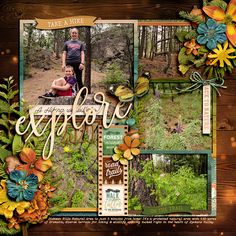 Travel Scrapbook, Scrapbook Albums, Scrapbook Layouts, Photo Focus, Digital Scrapbooking, Scrapbooking Ideas, Forest Road, Make A Wish, The Great Outdoors