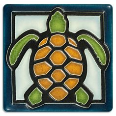 This precious turtle title is simply irresistible. Hang it with our frog and insects for a warm display. $33