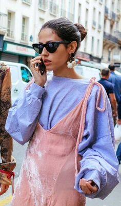 This velvet, pastel-hued street style embodies the kind of quirky elegance we adore.