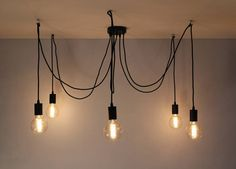 Brand new for Mr J Designs These spider lights are right on trend currently. Give yourself an authentic, vintage look by mixing and matching styles.This spider light with 5 arms will be a feature in any room The drop can be customised to the desired length upon instalation. Accompany the shade with the optional vintage globe filament style eddison bulbs picturedCreate your own bespoke lighting cluster.Hang them off ceiling mounted hooks so you can have these feature lights at varying…