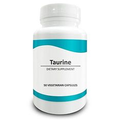 Pure Science Taurine (Free-Form) 1000mg - Improves Cardiovascular Health, Regulates Blood Sugar Level