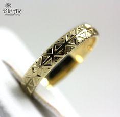 14k Gold Wedding Band ring, Art-deco gold wedding ring , men and women wedding ring, modern style wedding band,Texture