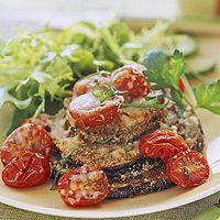 E- Eggplant Parmesan Stacks