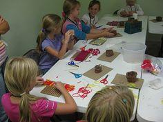 Thy Word: American Girl class: Josefina Week 4, weaving