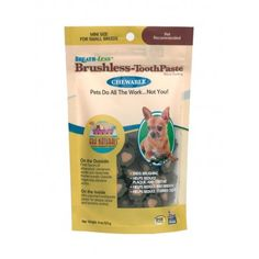 Dental Chew for Dogs and Cats l Ark Naturals Breath-less Brushless Toothpaste - Olive