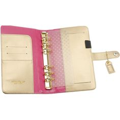 Amazon.com: Webster's Pages 6-Ring Color Crush Personal Planner Leather A2 Binder, Gold