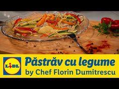 Pastrav in pergament cu legume • Gateste cu Chef Florin Dumitrescu - YouTube Lidl, Tacos, Mexican, Ethnic Recipes, Youtube, Food, Eten, Meals, Diet