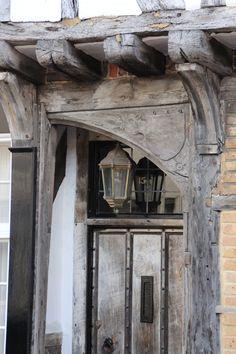 detail door in Sandwich, Kent, UK