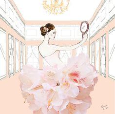 Ilustrações vestidos Grace Ciao caseme