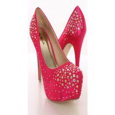 Fuchsia Satin Rhinestone Studded Heels @ Amiclubwear Heel Shoes online store sales:Stiletto Heel Shoes,High Heel Pumps,Womens High Heel Shoes,Prom Shoes,Summer Shoes,Spring Shoes,Spool Heel,Womens Dress Shoes,Prom Heels,Prom Pumps,High Heel Sandals,Cheap