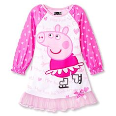 Toddler Girls' Peppa Pig Nightgown - Pink size 4T