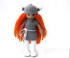 "Купить Кукла. Кукла вязаная ""Варечка"". Авторская интерьерная кукла. - кукла ручной работы, кукла"