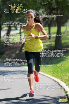 It's so true...yoga and running have such great benefits together!