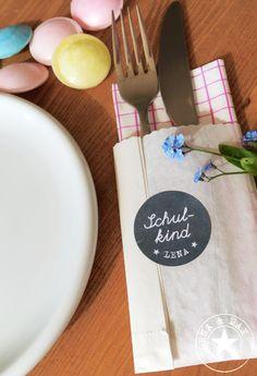 Tischdeko für die Einschulung