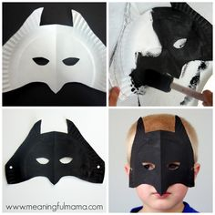 Batman Paper Plate Mask Tutorial and Template
