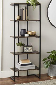 Home - Shelf Bookcase - Ideas of Shelf Bookcase - Better Homes & Gardens Rhodes 5 Shelf Bookcase Black Zen Furniture, Classic Furniture, Unique Furniture, Furniture Sale, Cheap Furniture, Living Room Shelves, Living Room Decor, Rhodes, 5 Shelf Bookcase