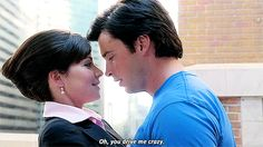 """Busy day for a superhero. Lois And Clark Smallville, Smallville Quotes, Tom Welling Smallville, Cw Tv Series, Best Tv Series Ever, Kent Farm, Allison Mack, Erica Durance, Superman And Lois Lane"