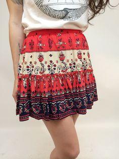 Desert Wanderer Mini Skirt in Sunset by Spell Designs