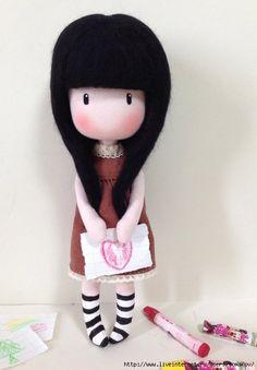 Мобильный LiveInternet Кукла с карандашами. МК, выкройка | Лютик65 - Дневник Лютик65 |