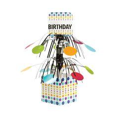 Birthday Pop Mini Cascade Centerpiece with Base/Case of 6 Tags: Birthday Pop; Centerpieces; General Birthday; general birthday party ideas;general birthday party tableware; https://www.ktsupply.com/products/32786323166/Birthday-Pop-Mini-Cascade-Centerpiece-with-BaseCase-of-6.html