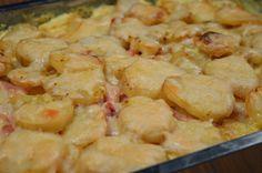 Kassler- & potatisgratäng med curry