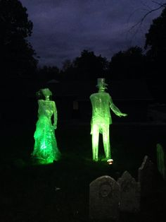 """""""Our ghost couple are haunting the side yard. Watch out! """" SARAH'S HALLOWEEN 2014"""