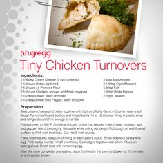 Our Tiny Chicken Turnovers recipe includes sweet red pepper, dijon ...