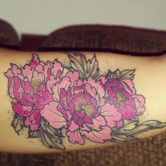 My peony tattoo
