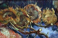 Four Sunflowers gone to Seed by Van Gogh