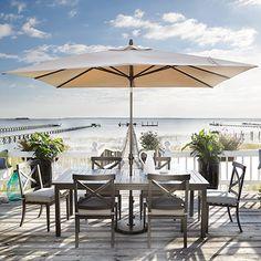 Outdoor 8' x 10' Rectangle Umbrella in Beacon Ash with Bronze Base Arhaus Furniture...OUTDOOR PINTEREST PROJECT