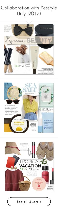"""""""Collaboration with Yesstyle (July, 2017)"""" by dian-lado ❤ liked on Polyvore featuring beauty, Innisfree, Tony Moly, DaBaGirl, Chlo.D.Manon, nature republic, RetroSuperFuture, Goroke and Skinfood"""