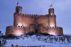 Castillo de Manzanares el Real.  Madrid.