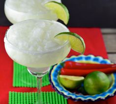 An easy frozen margarita. This is one of our favorite recipes.
