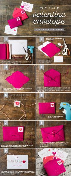Valentine Felt Envelope Tutorial by MichaelsMakers  Lia Griffith