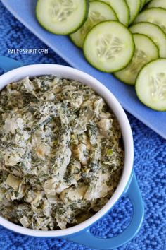 Creamy Spinach-Artichoke Dip (Paleo & Vegan) #recipe #food