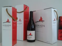 Bottles and cases of Losada.