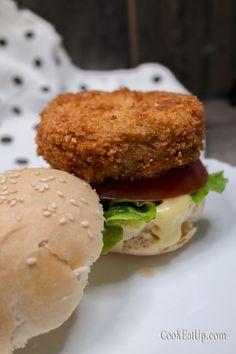 Salmon Burgers, Vegan Recipes, Vegan Food, Hamburger, Bread, Ethnic Recipes, Veggie Food, Vegane Rezepte, Brot