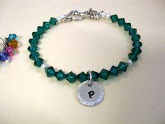 Crystal Bracelet Birthstone Bracelet Birthstone by CharmAccents