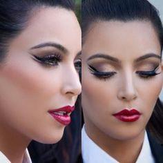 Kim Kardashian for Kardashians' 2011 Christmas Card #makeup @makeupbymario