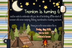 camping party invite