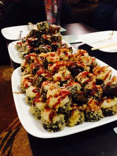 Hubby's Specialty Inspired by Reno Sushi: Deep fried sushi rolls