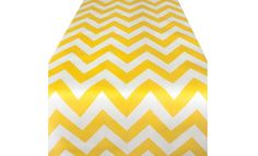 Sweet Pea Parties - Table Runners - Yellow Chevron